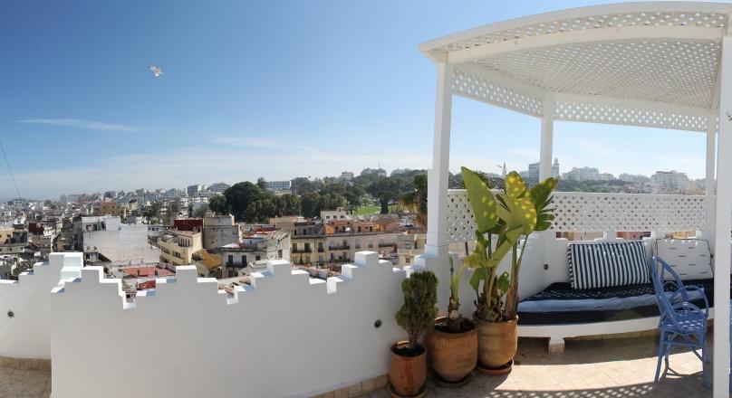Tanger, médina, charmant petit spot, unique, vue 360° sur baie et ville.